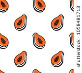 vector seamless pattern with... | Shutterstock .eps vector #1058481713