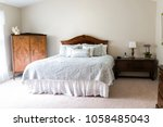 closeup of new bed with... | Shutterstock . vector #1058485043