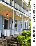 former naval officer's house ... | Shutterstock . vector #1058485733
