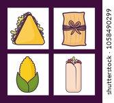 mexican food design | Shutterstock .eps vector #1058490299