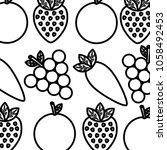 vegetable and fruit healthy... | Shutterstock .eps vector #1058492453