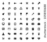 set of 56 vector icons for... | Shutterstock .eps vector #105850688