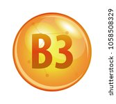 vitamin b3 capsule. vector icon ... | Shutterstock .eps vector #1058508329