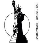 Statue Of Liberty   Retro Clip...