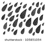 black ornamental raindrops | Shutterstock .eps vector #105851054