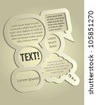 abstract design   speech... | Shutterstock .eps vector #105851270