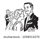 elegant dance couples   retro... | Shutterstock .eps vector #1058513270