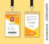 simple orange graphic id card... | Shutterstock .eps vector #1058516690