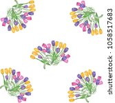 watercolor pattern with... | Shutterstock . vector #1058517683
