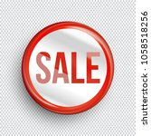 sale circle banner on... | Shutterstock .eps vector #1058518256