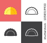 pasty icons 2018   Shutterstock .eps vector #1058519933