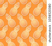 sweet pineapple diagonal... | Shutterstock .eps vector #1058520380