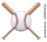 baseball with bats is an... | Shutterstock .eps vector #105852626