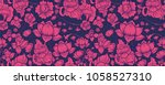 pink lotus on navy graphic... | Shutterstock .eps vector #1058527310