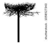 silhouette of grass. dill.... | Shutterstock .eps vector #1058527343