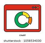 chart vector icon | Shutterstock .eps vector #1058534030