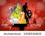bicycle jumper during danger... | Shutterstock .eps vector #1058536820