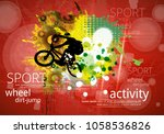 bicycle jumper during danger... | Shutterstock .eps vector #1058536826