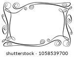 flourish vector frame.... | Shutterstock .eps vector #1058539700