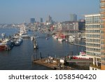 aerial view of hamburg port  a... | Shutterstock . vector #1058540420