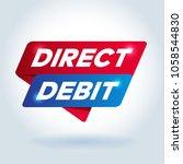 direct debit arrow tag sign. | Shutterstock .eps vector #1058544830