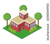 isolmetric school building   Shutterstock .eps vector #1058544950