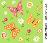 seamless pattern with... | Shutterstock .eps vector #1058549666
