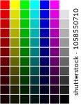 colorful spectrum samples for...   Shutterstock . vector #1058550710