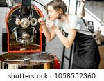 woman checking the quality of... | Shutterstock . vector #1058552360