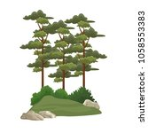 trees and bushes | Shutterstock .eps vector #1058553383