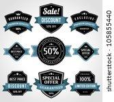 vintage labels or badges and... | Shutterstock .eps vector #105855440