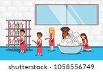 veterinary service set icons   Shutterstock .eps vector #1058556749