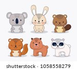 cute animals design | Shutterstock .eps vector #1058558279