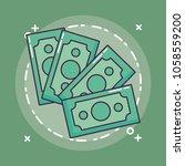 money bills design | Shutterstock .eps vector #1058559200