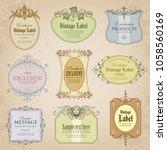 set of exclusive labels in... | Shutterstock .eps vector #1058560169