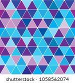 winter blue triangle pattern.... | Shutterstock .eps vector #1058562074