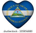 illustration of heart with flag ... | Shutterstock . vector #105856880