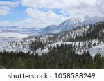 wintry job's peak landscape | Shutterstock . vector #1058588249