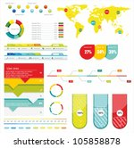 world map and information... | Shutterstock .eps vector #105858878