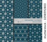 geometric patterns   hexagon... | Shutterstock .eps vector #1058592803
