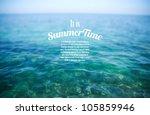 realistic summertime vector... | Shutterstock .eps vector #105859946