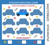 shadow matching game. find the... | Shutterstock .eps vector #1058611544