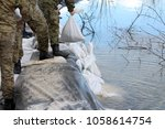 soldiers standing in line on... | Shutterstock . vector #1058614754