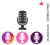 microphone icon.speaker vector... | Shutterstock .eps vector #1058617406
