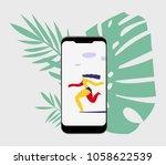 vector illustration with... | Shutterstock .eps vector #1058622539