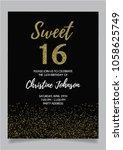 sweet sixteen party vector... | Shutterstock .eps vector #1058625749