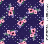 seamless pattern in small cute... | Shutterstock .eps vector #1058639120