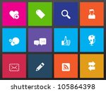 social network icon series in... | Shutterstock .eps vector #105864398