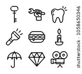 essentials icon set | Shutterstock .eps vector #1058650346