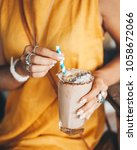 cacao smoothie drink | Shutterstock . vector #1058672066